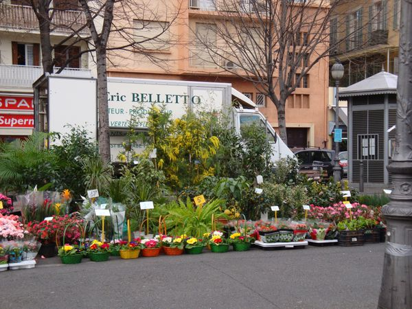 Blumenstand am Place Sébastopol in Marseille