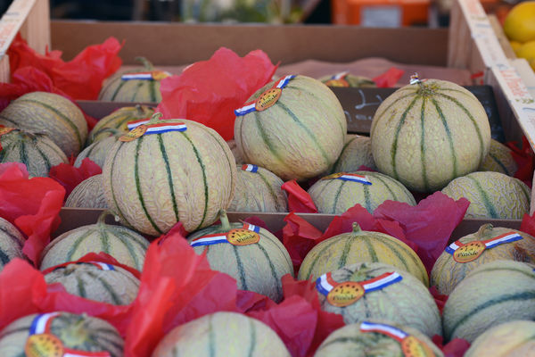 Melonen am Markt Saleya in Nizza.